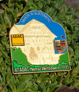 Enamel German Automobile Car Badge Adac Baden W rttemberg Rally 2000 Porsche