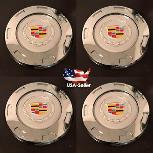 4 Pcs 2007 2014 Cadillac Escalade Chrome 22 7 Spoke Wheel Center Cap New