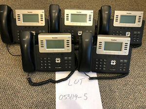 Yealink T27p Ip Sip Phones lot Of 5 Lot 053119 5