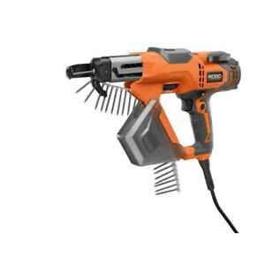 Ridgid Drywall Deck Collated Screwdriver Electric Corded 3 Inch Gun Power Tool