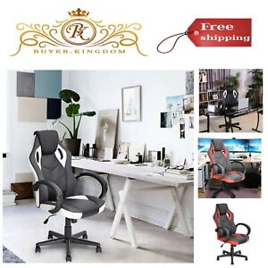 High Back Computer Gaming Chair Pu Leather Executive Swivel Task Desk Chair New