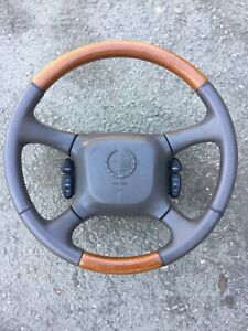 Cadillac Escalade Steering Wheel Leather Wood With Air Bag Oem Factory