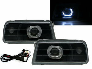 Tracker 1988 1998 Guide Led Halo Projector Headlight Black V2 For Geo Lhd