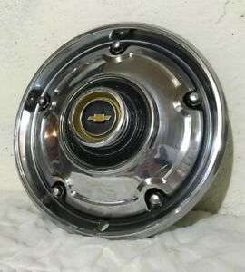69 82 Chevy C10 C 10 Truck Chrome 15 Wheel Cover Hub Cap Nice