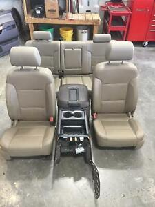 2014 2019 Chevy Silverado Sierra 1500 Tan Leather Front Leather Front rear Seats