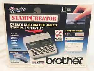 Brother P touch Stamp Creator Printer Sc 100 Custom Stamp Creator New In Box
