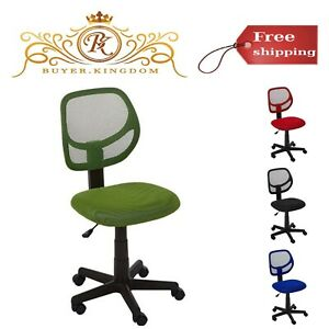 Low Back Computer Task Office Desk Chair Swivel Casters Pneumatic Seat Height