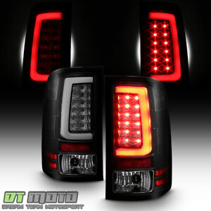 New Blk Smoke 2007 2013 Gmc Sierra 1500 2500 Hd Led Tube Tail Lights Brake Lamps