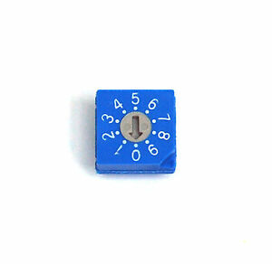 100pcs Rotary Dip Switch Bcd Code Rs30012 0 9 Scale 10x10x4 7mm Hampolt Taiwan