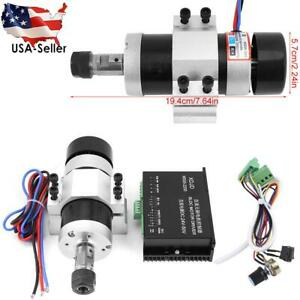 Er16 Dc 48v 500w High Speed Air Cooling Brushless Spindle Motor Driver Clamp