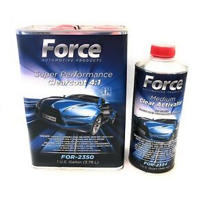 Force Super Performance Urethane Clearcoat W Slow Activator 4 1