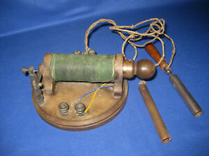 Rare Antique Victorian Early Medical Electric Shock Induction Coil Device