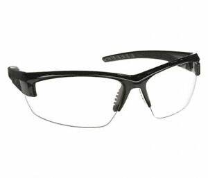 Uvex S1500x Mercury Safety Glasses Black gray W Clear Lens Bx 10 Pair