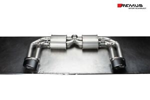 Remus Resonated Cat Back Sport Exhaust For Audi Rs3 2 5l Oval Carbon Tips