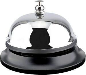 Hotel Desk Call Bell Ding Tap Ring Front Counter Reception Round Push Silver