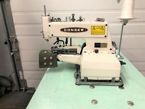 Consew 241 1k Button Sewer New Table New 110 Volt Industrial Sewing Machine