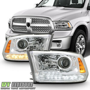 upgrade Style 2009 2018 Dodge Ram 1500 Led Drl Projector Headlights Headlamps