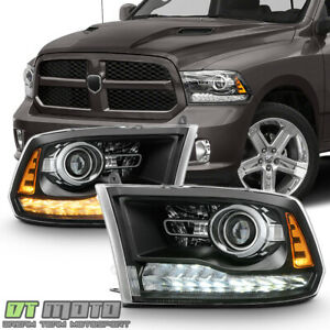 2009 2018 Dodge Ram 1500 10 18 2500 3500 Led Drl Projector Upgrade Headlights