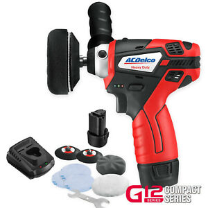 Acdelco Ars1212 3 Pad Mini Polisher Sander Kit With Two Batteries Charger