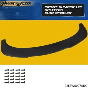 Car Universal Front Bumper Lip Splitter Chin Spoiler Black Pp Plastic 1pc