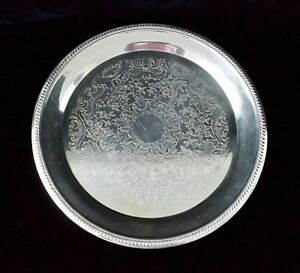 F B Rogers Silver Co Round Platter 6705 1883 Crown Signature Mark