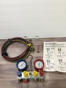 Yellow Jacket Ritchie Test Charge Manifold Gauges A c With Hoses