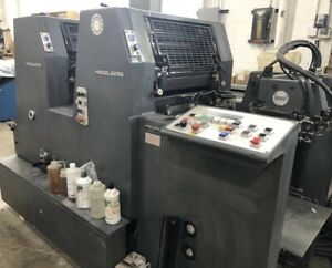 1995 Heidelberg Gtoz s Two color Stream Feed Printing Press Cp tronic Chicago