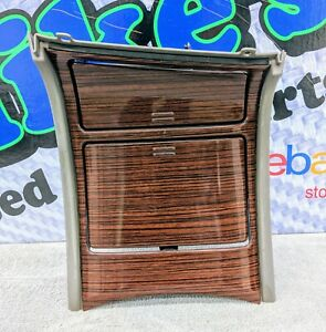 2002 Cadillac Escalade Center Console Cup Holder Ash Tray Woodgrain Trim