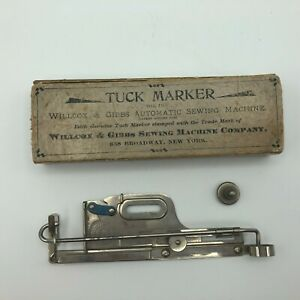 Antique Willcox And Gibbs Tuck Marker Automatic Sewing Machine Attachment