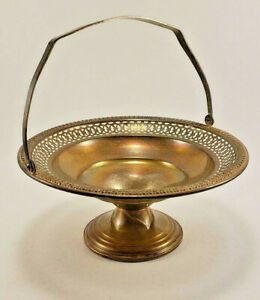 Sterling Silver Reticulated Bowl W Handle Weighted Reinforced 95a 5 7 8 Dia