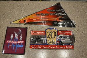 Nos Vintage Snap On Channel Lock Tools Tool Box Sticker Decal Man Cave Lot Of 3