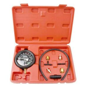 Autos Engine Carburetor Valve Leak Fuel Pump Pressure Vacuum Tester Gauge Kit