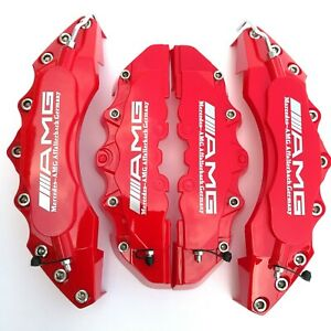 Red Amg Brake Caliper Covers For Mercedes Benz 11 F9 R Engineering Plastic