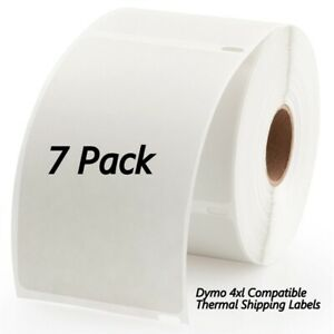 7 Rolls Dymo Compatible 4xl Internet Postage 4x6 Shipping Labels Permanent