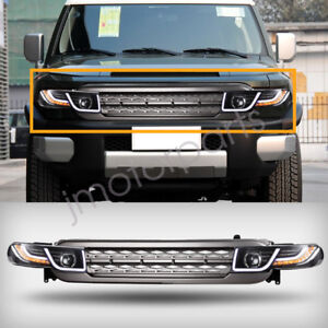One Pair Halo Projector Led Headlights W Grille For 2007 15 Toyota Fj Cruiser