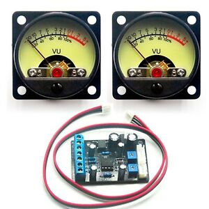 2x Tr 35 Vu Panel Meter Db Level Power Supply Driver Board For Audio Amplifier