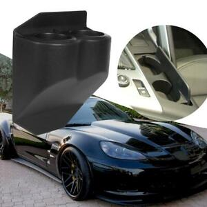 Car Dual Cup Drink Holder Travel Buddy For Chevy Corvette C5 1997 2013 Black