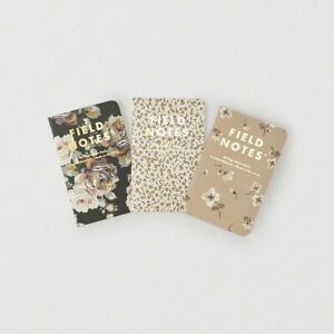 Field Notes X Abercrombie Fitch floral Prints Sealed 3 pack rare