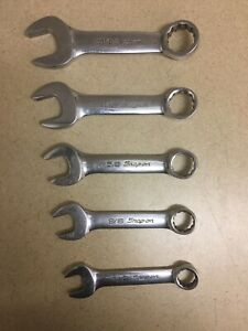 Snap On 12 Pts Stubby Short Sae Combination Wrench Set Oxi706