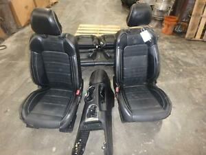 2015 2019 Ford Mustang Black Leather Front Rear Seats W console Driver Pass