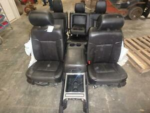 2011 2016 Ford F250 F350 Superduty Front Rear Black Leather Seats Lariat