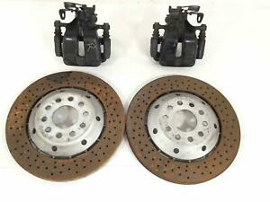 Rear Brake Caliper And Rotor Set Audi Rs6 03 04 Lh Driver Rh Passenger Side