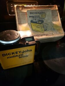 Vintage Dickey John Grain Moisture Tester As Is Reed Description