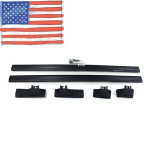 2x Black Fit 2003 2011 Honda Element Factory Hole Carrier Roof Rack Cross Bars