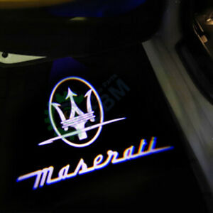 2x Led Door Courtesy Shadow Welcome Light For Maserati Ghibli 14 19 Trident Logo