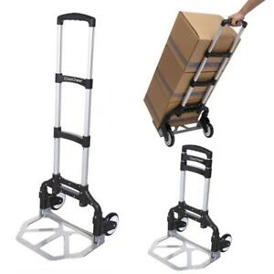 220lbs Cart Folding Dolly Push Hand Truck Moving Warehouse Collapsible Trolley