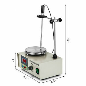 Magnetic Stirrer With Heating Plate 85 2 Hotplate Mixer 110v Digital Display S