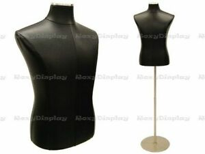 Male Black Cover Dress Body Form Mannequin Display jf 33m01pu bk bs 04