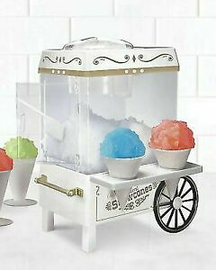 Commercial Nostalgia Snow Cone Machine Maker Electric Carnival Party Ice Slushy