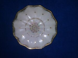 Vintage Royal Sealy Scalloped Lusterware Cup And Saucer Japan China White Gold